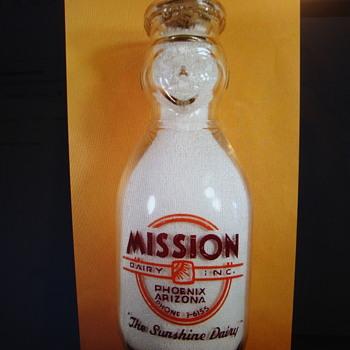 MISSION DAIRY...PHOENIX ARIZONA...COP THE CREAM MILK BOTTLE - Bottles
