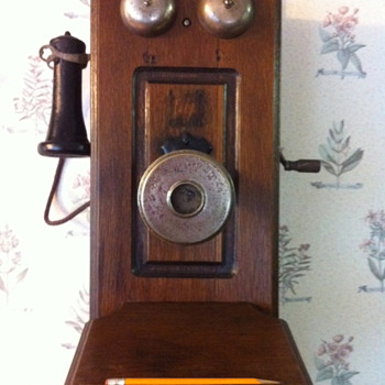 American Electric Telephone Co. Wall Phone  - Telephones