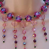 Strawberry Fields Forever - Bib necklace with the most beautiful Swarovski Crystals