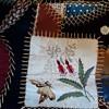 Velvet and silk crazy quilt.