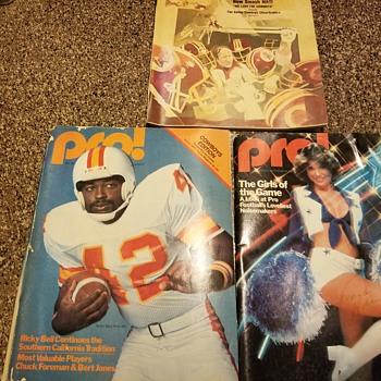 1970's cowboys game programs. - Football
