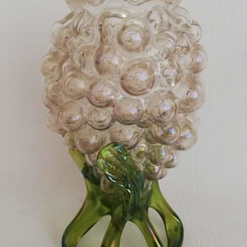 Kralik 'Bunch of Grapes' Iridescent Vase - Art Glass