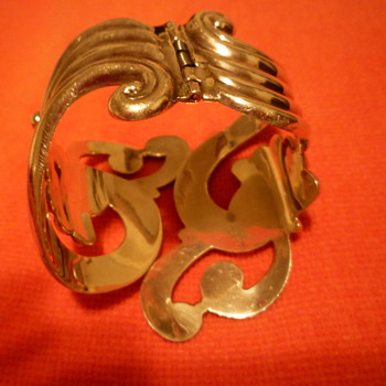 Mexican silver clamper bracelet