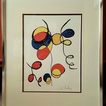 """""""Spirals"""" Lithograph by Alexander Calder - Fine Art"""
