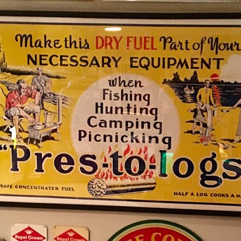 1930s advertising Pres-to-logs poster - Advertising