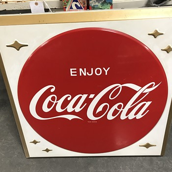 Coca Cola button sign  - Coca-Cola