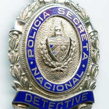 1930s Cuba Policia Secreta Cuban Secret Police Badge - Medals Pins and Badges