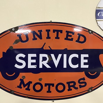 United service motor sign  - Signs