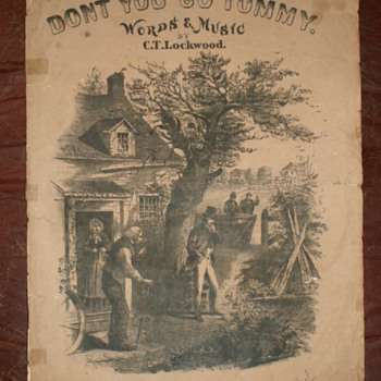 "1867  ""Don't You Go, Tommy""  By C.T. Lockwood  ~ Sheet Music - Music Memorabilia"
