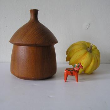 Dansk Teak Acorn Box Designed By Jens Quistgaard - Mid-Century Modern