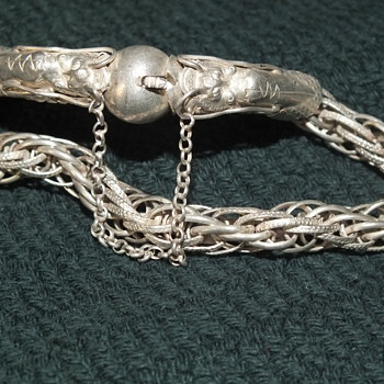 Antique Silver Chinese Dragon Bracelet - Fine Jewelry