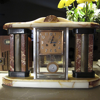 1920-25 Art Deco French Portico clock - Clocks