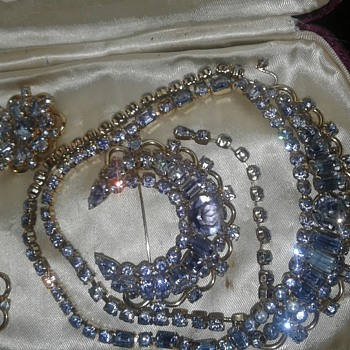 Kramer of NY Amethyst Jewelry Set 1952  - Costume Jewelry