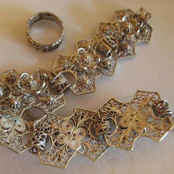 Filigree Silver Floral Link Bracelet - Fine Jewelry