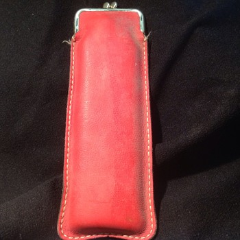 long 10 inch red leather purse  - Bags