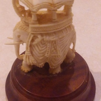 Carved India Ivory Figurines - Figurines