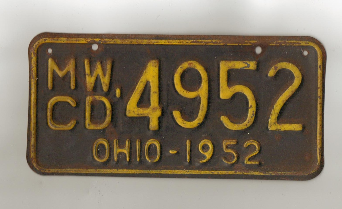 License plate I from OHIO, turns out to be for boat. | Collectors ...