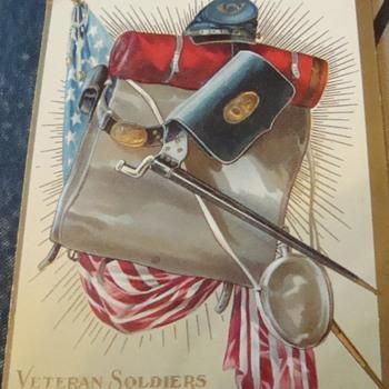 GAR Veteran Soldiers of the Civil War. - Postcards