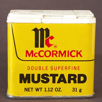 1977 McCormick Mustard Tin - Advertising