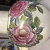 LArge ginger jar pink and purple roses