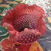 Cranberry rose bowl
