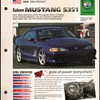 Hot Cars Card - Mustang S351