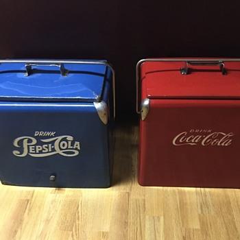 1950's Coke n Pepsi coolers