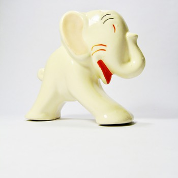 ART DECO ELEPHANT  PLANTER   - Animals