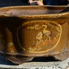Large Martaban Brown Chinese Planter