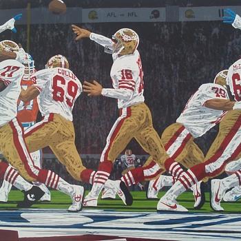Joe Montana art - Football