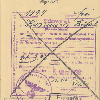Polish passports with Gestapo inspection stamps - Paper