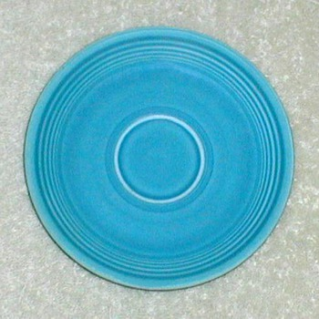 "Original Fiestaware 6"" Saucer - Turquoise - China and Dinnerware"