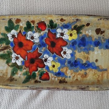 Large Vallauris flowered dish - marked NB ?...any ideas ? - Pottery