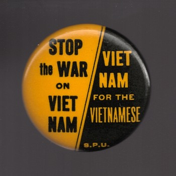 STOP The WAR On VIET NAM protest pinback
