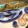 Vintage Blended Glaze Pottery Brush, Stangl, Doug Wyle, and ???