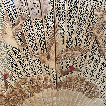 Carved Bamboo Fan - PROC - Accessories