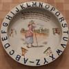 Antique SCHUMANN Bavaria LITTLE BO PEEP Alphabet Nursery Rhyme Child's Porringer