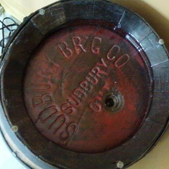 "Sudbury brew company ""Beer Barrell"" - Breweriana"