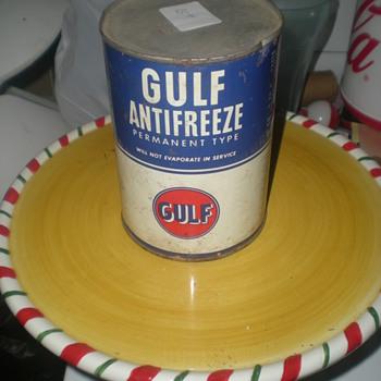 Antifreeze Gulf Can - Petroliana