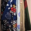 Small part of my collection of vintage handmade silk Japanese kimonos and coats
