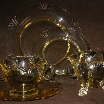 Inherited Depression Glass - Glassware