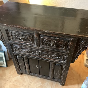 lacquered Chinese's table cabinet  - Asian