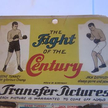 1920s GENE TUNNEY JACK DEMPSEY GERMAN TRANSFER STAMPS  - Advertising