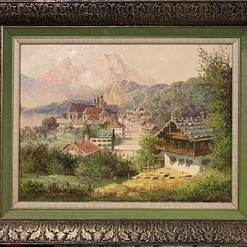 Vintage Oil Painting - European Countryside - Viktoria Maltuch/A. Schutzmann - Fine Art