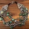 Asian Sterling Silver Turquoise Necklace