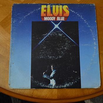 """ELVIS PRESLEY, BLACK """"MOODY BLUE"""" ALBUM MISLABELED.."""