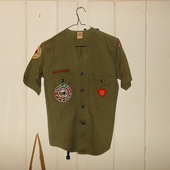Collarless Boy Scout Shirt Los Angeles Area 1964 - Sporting Goods