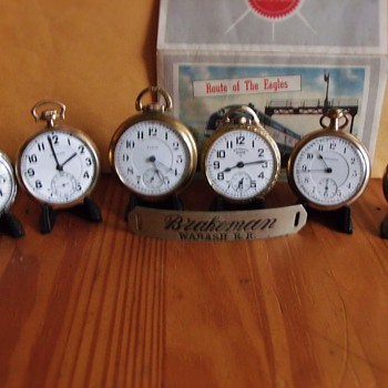 Group shot of a Few RailRoad Pocket Watches - Pocket Watches