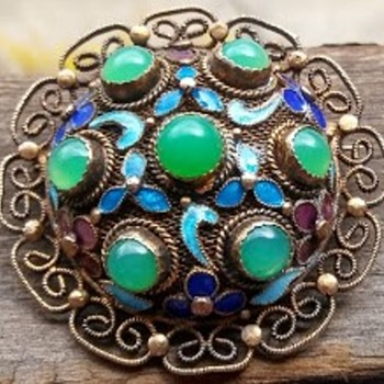 Chinese Silver Brooch - Silver
