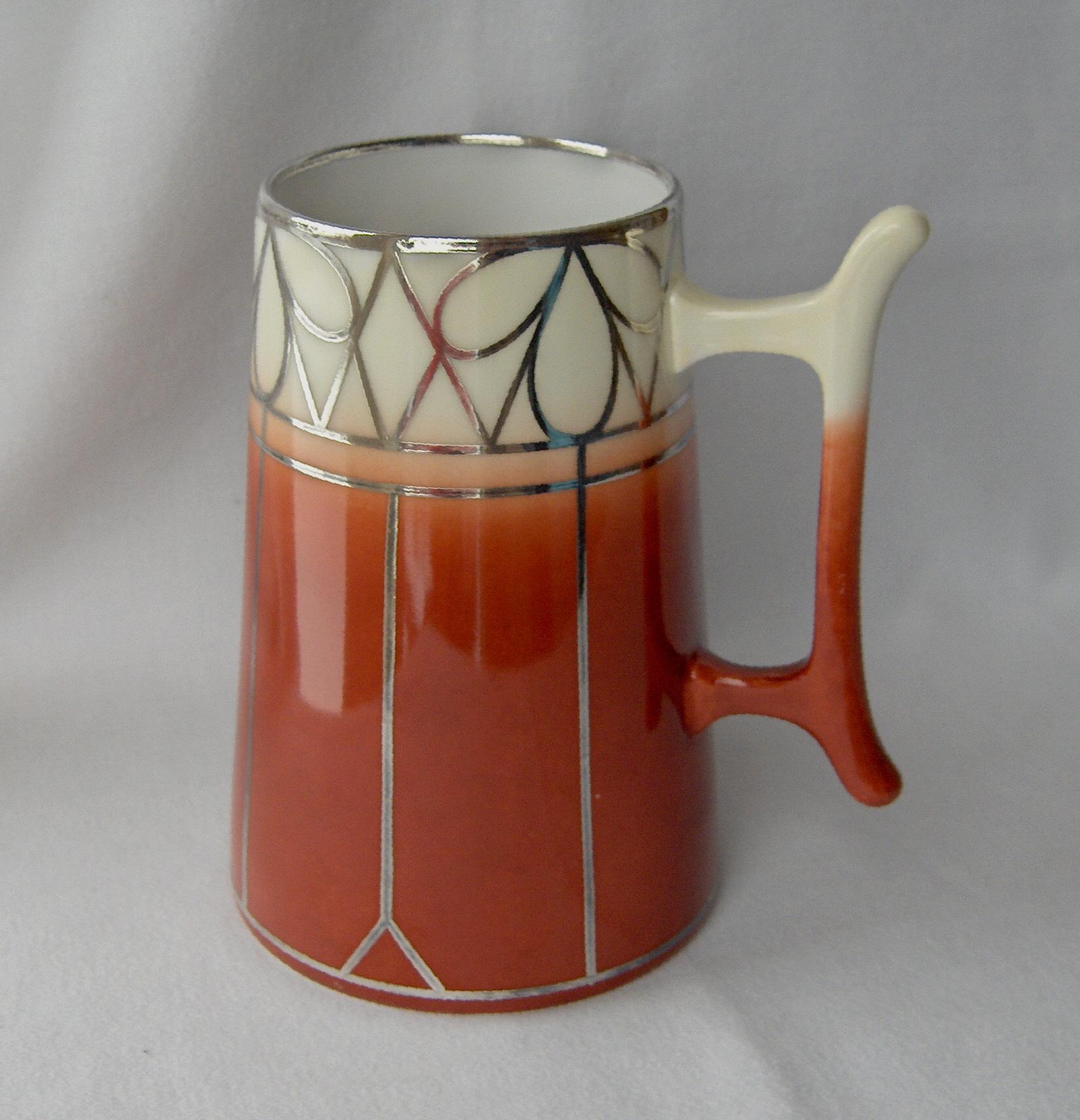 Two Willets Belleek Tankards, porcelain blanks hand